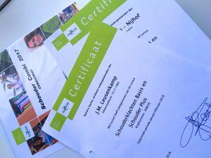 Certificaat Schoudernetwerk Twente